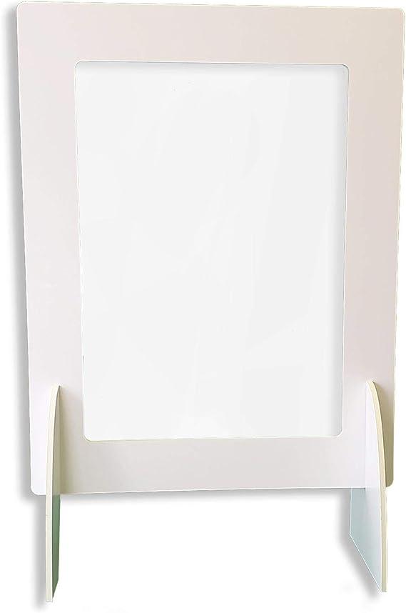 Pantalla Protección Mostrador 100x90cm - Fabricado en Foam 10mm y Glasspack - Mampara para Mostradores de Tiendas - Separador Transparente para Colegios, Supermercados, Farmacias y Comercios: Amazon.es: Oficina y papelería