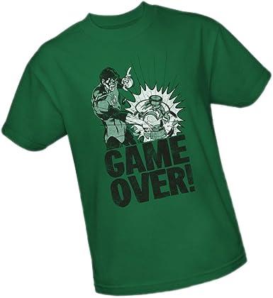 Green Lantern Video Game Box Art DC Comics Licensed Adult T-Shirt