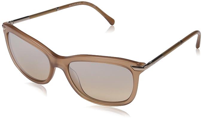 BURBERRY Damen Sonnenbrille BE4185, Braun (Brown 35093D), One size (Herstellergröße: 57)