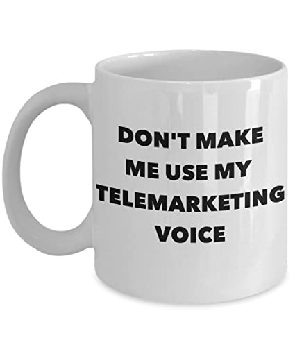 Amazon Funny Telemarketer Mug
