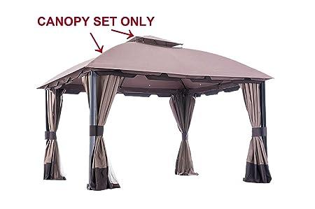 Sunjoy 110109123 Universal to L-GZ659PST-WV-BigLots Replacement Canopy Set