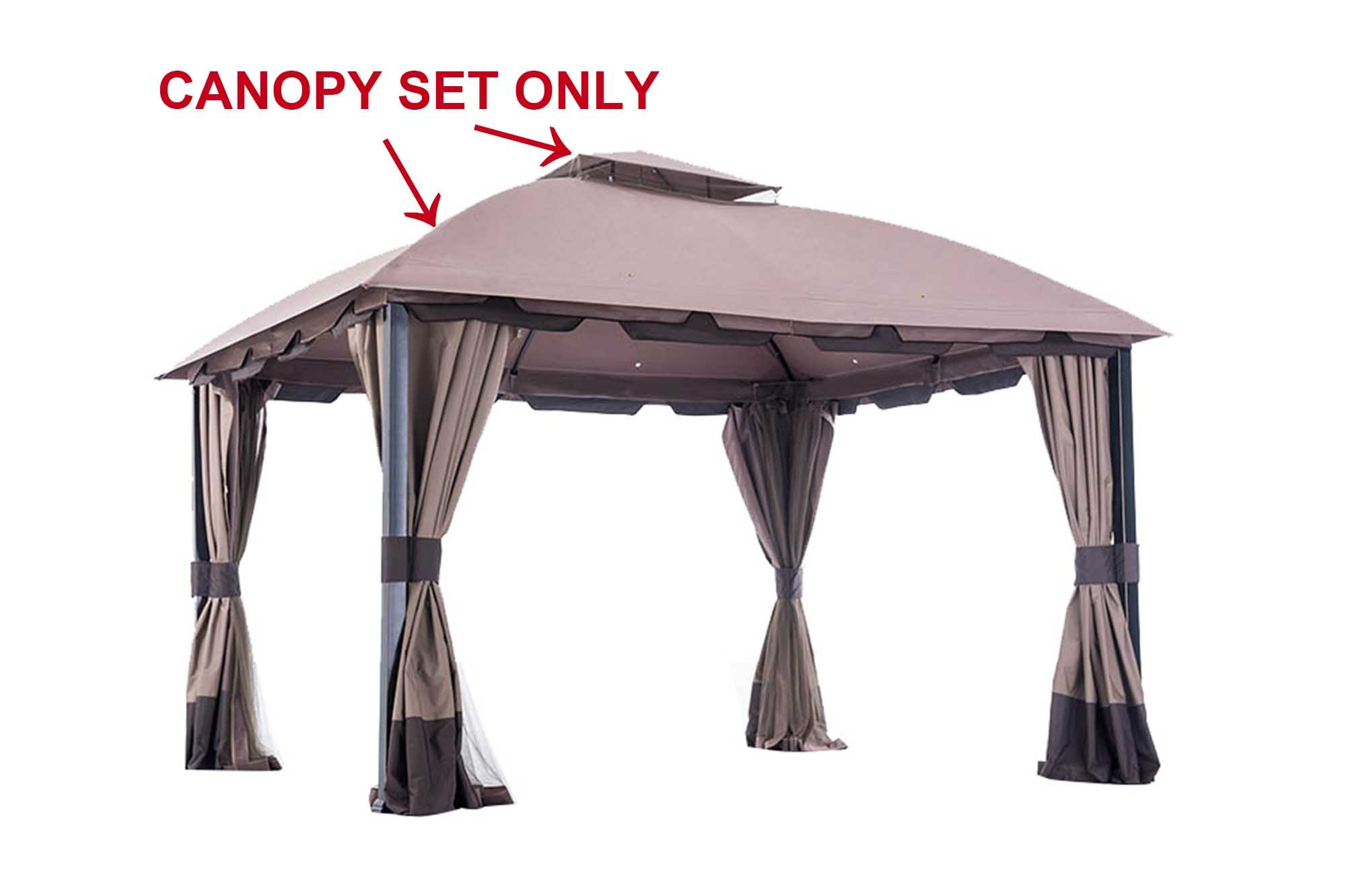 Sunjoy 110109123 Universal to L-GZ659PST-WV-BigLots Replacement Canopy Set