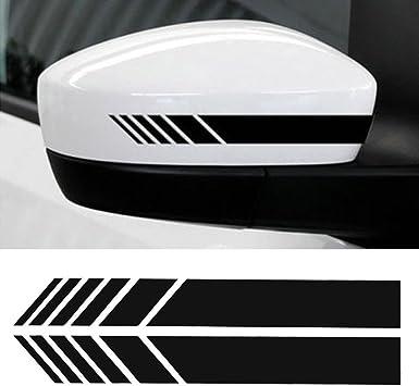 Protector de puerta lateral para coche SENZEAL 4 unidades Negro