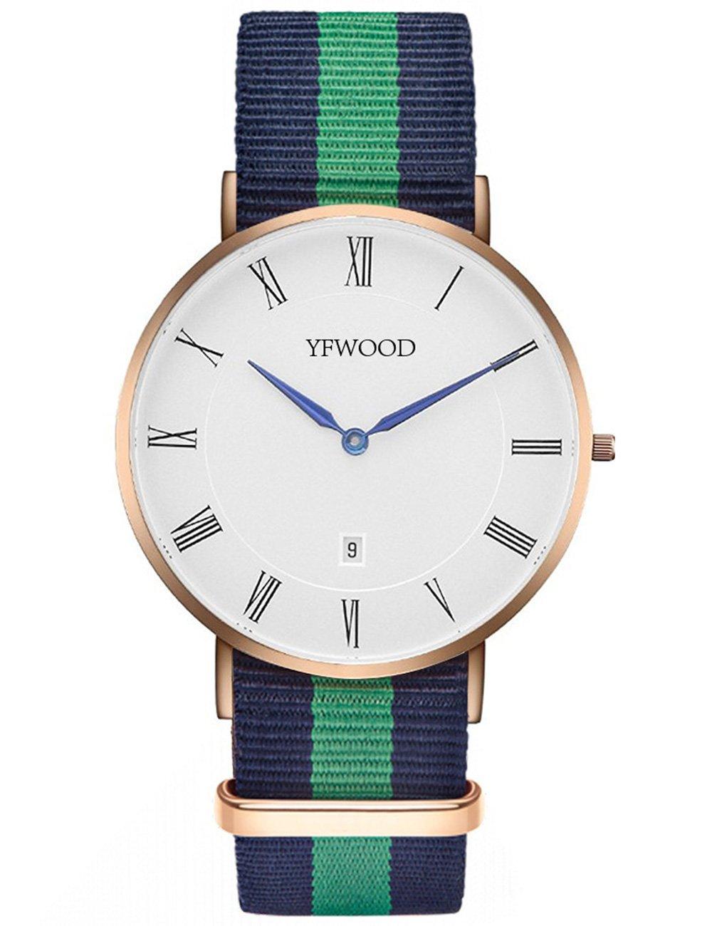 Quartz Watch Nylon Band Unisex Wrist Watch Classic Casual Waterproof Watch Round Dial Business Watch