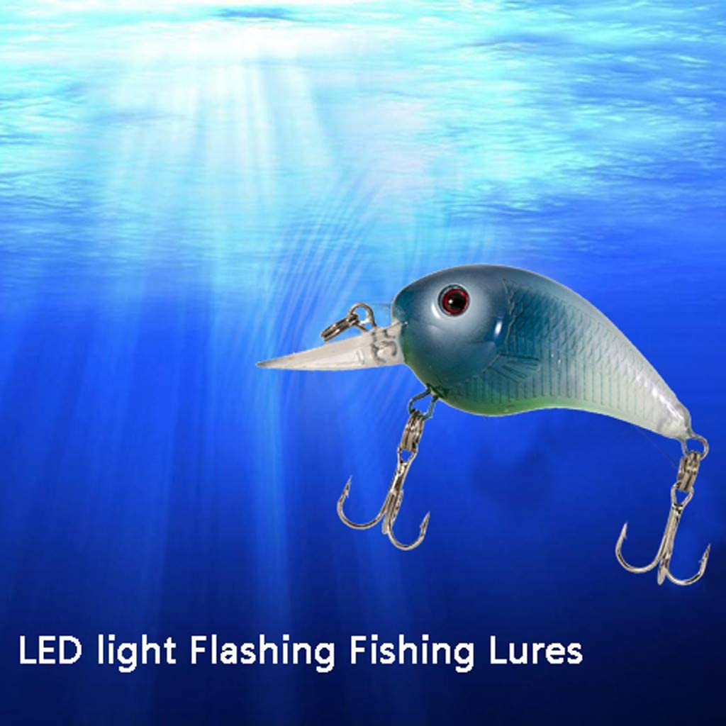 CUEYU Fishing Lures Fishing Light Attractant LED Minnow Long Casting Slow Sinking Flashing Vibrating Jerking Twitching Lures Freshwater and Saltwater Hard Lures