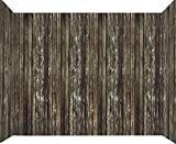 Forum Novelties Haunted House Roll Indoor/Outdoor Rotted Wood Wall Decoration, 20', Brown
