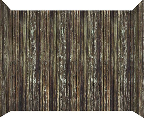 Forum Novelties Haunted House Roll Indoor/Outdoor Rotted Wood Wall Decoration, 20', (Old School Scary Halloween Costumes)