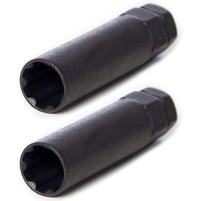 Circuit Performance Large Black 7 Point Standard Spline Tool Key (2 Tools): Automotive