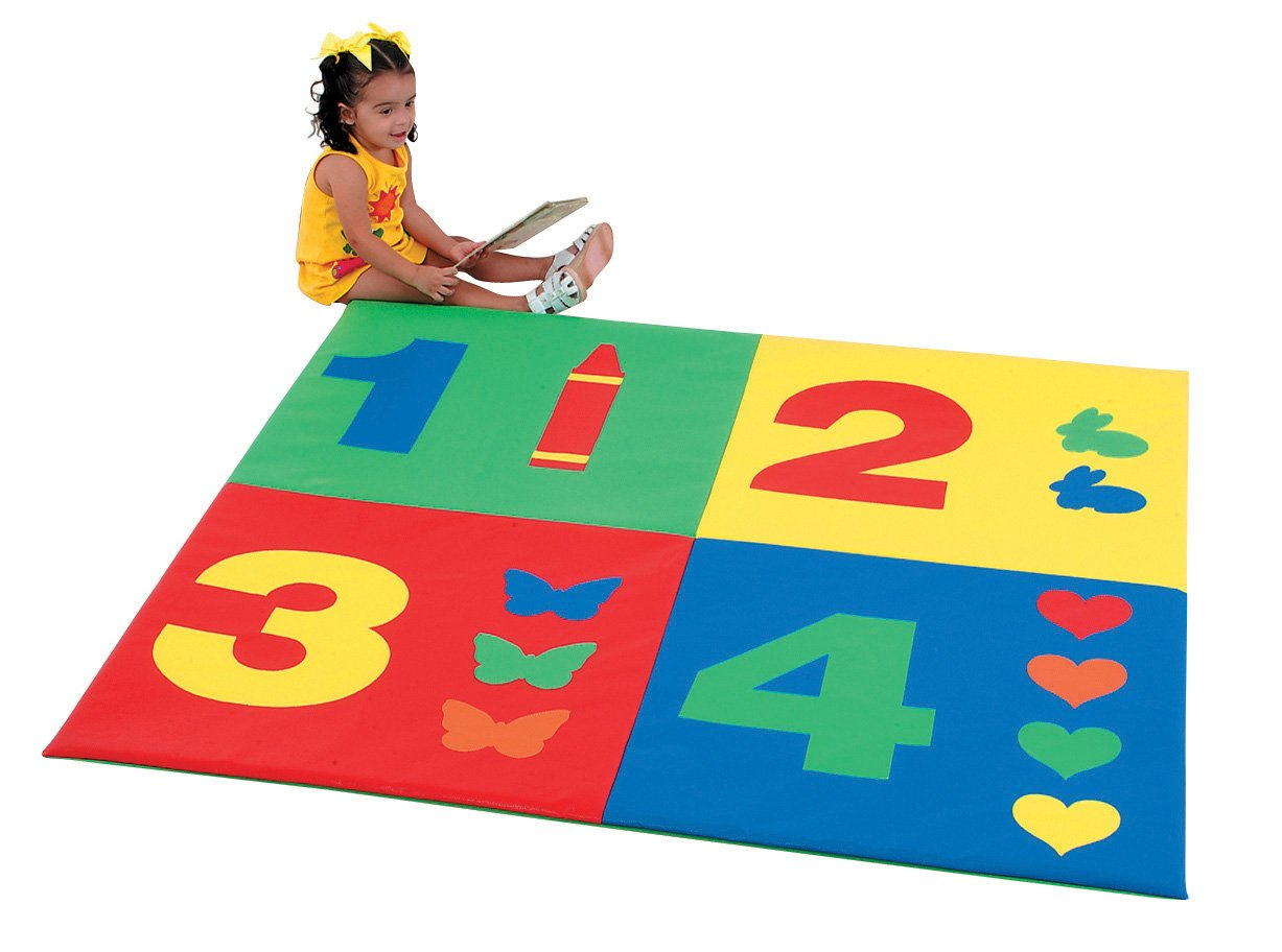 Image of Baby Children's Factory 1-2-3-4 Mat Classroom Furniture - CF362-161