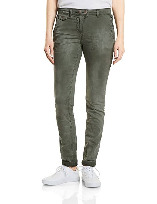 371221 New York SS18, Pantalon Femme, Gris (Graphit Light Grey 10498), 46 (Taille Fabricant: 33)Cecil