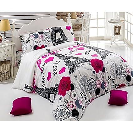 Nice Duvet Cover Set 4 Pieces Full Double Size Queen Size Bedding Set Ranforce  Cotton Bedding Linens