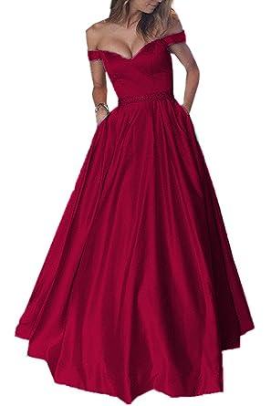Lwdress Elegant Beaded Sashes Long Burgundy Evening Prom Dresses