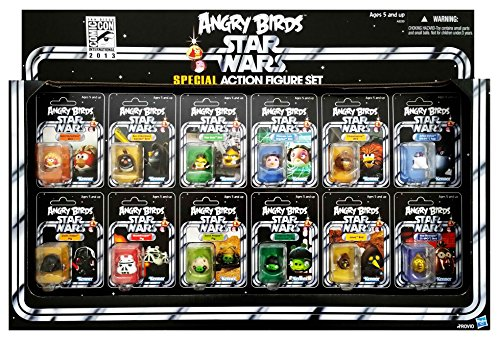 Star Wars Angry Birds SDCC 2013 Exclusive Special Edition Set with 12 Action Figures