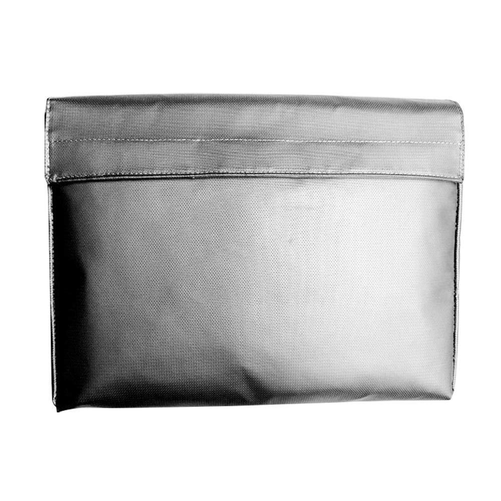 Chengstore ignifugo, per documenti in silicone rivestito in fibra di vetro, resistente all' acqua Resistente al fuoco del sacchetto della busta con cerniera per documenti Bank fogli deposito Cash Money Jewelry Safe Storage protezione