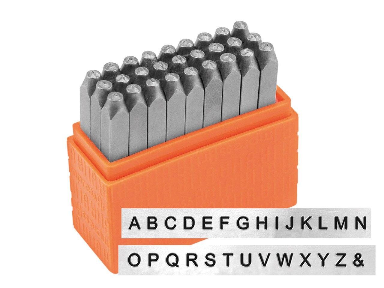 ImpressArt Stamp Set Sans Serif UPPERCASE Letters 1.5mm New. 27 Pcs