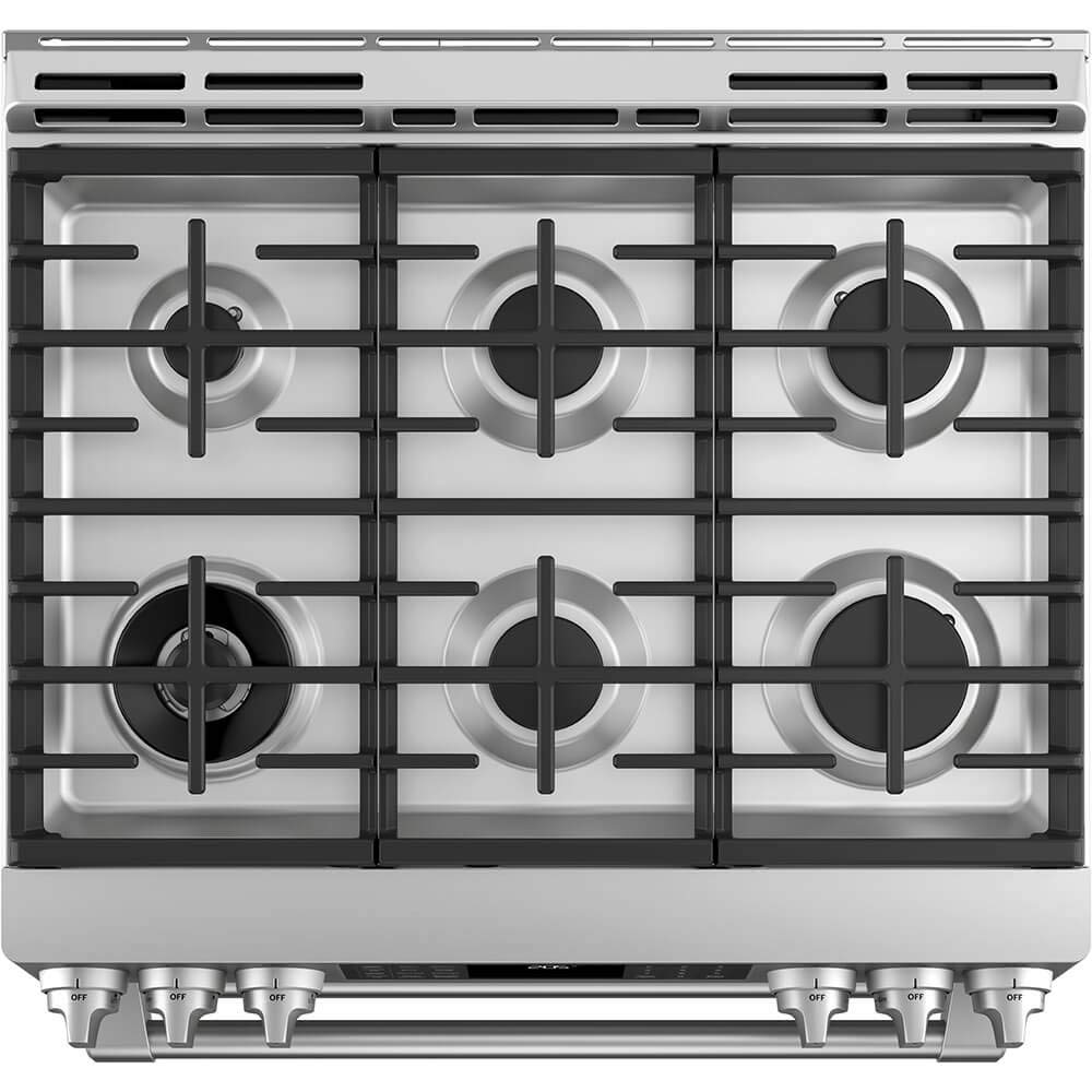 0513985da Amazon.com  GE Cafe C2S995SELSS 30 Inch Slide-in Dual Fuel Range with  Sealed Burner Cooktop in Stainless Steel  Appliances