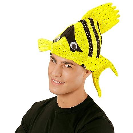 Cappello divertente pesce tropicale berretto giallo travestimenti costumi  animali Nemo carnevale - eb5a8f2e44dd