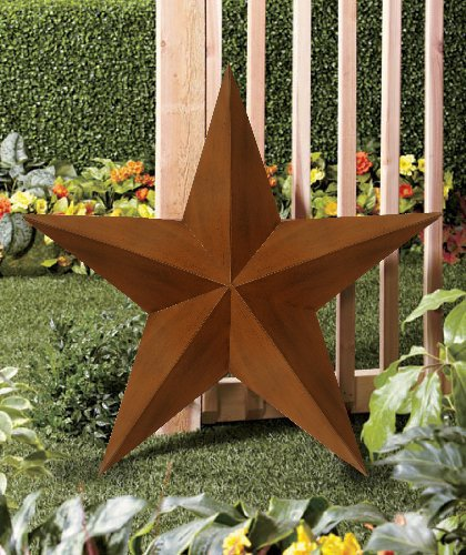 CT DISCOUNT STORE 3 D, 36 Inches Rustic Western American Barn Star, Traditionally Symbol Of Good Luck Indoor Outdoor Decor