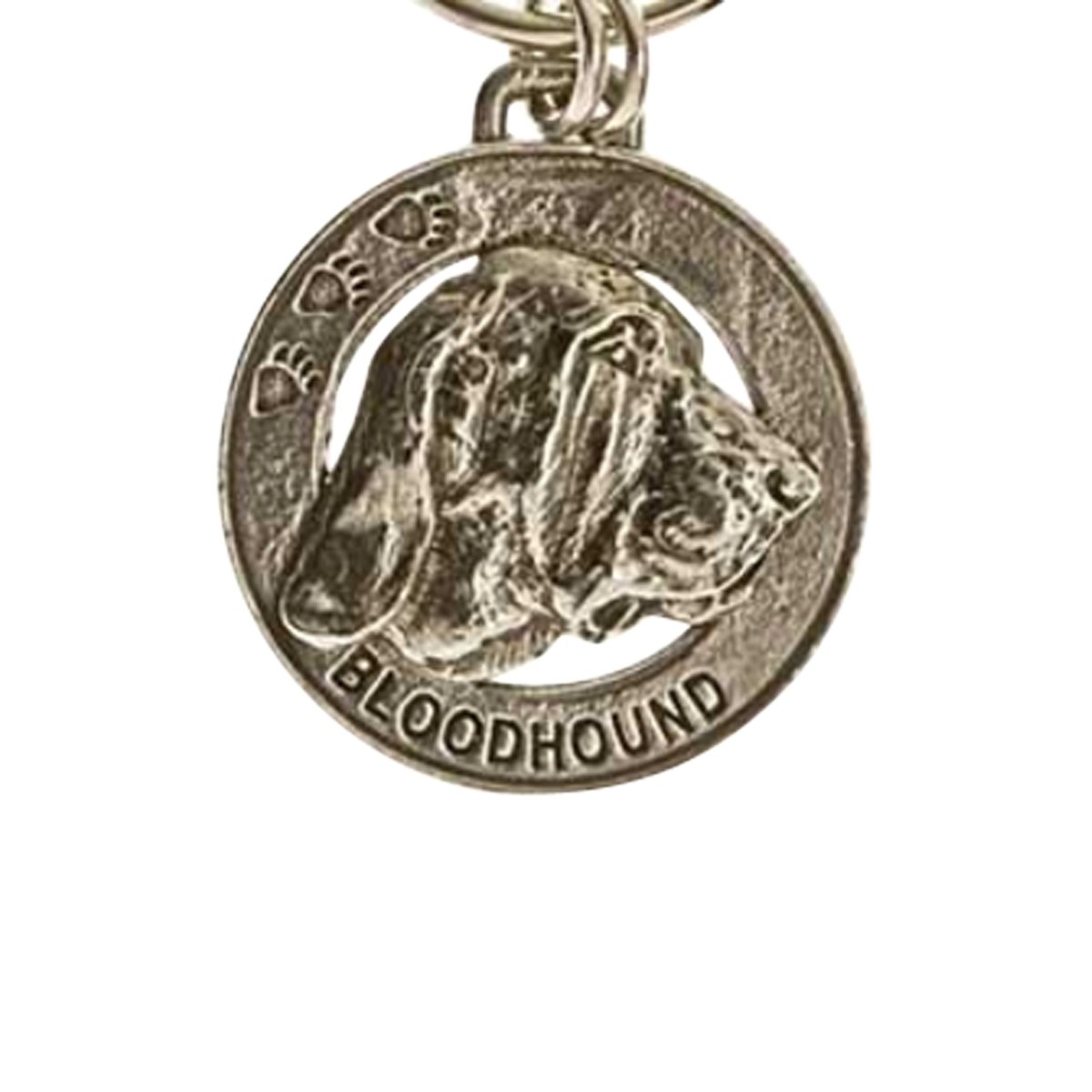 Creative Pewter Designs, Pewter Bloodhound Key Chain, Antiqued Finish, DK028