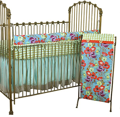 - Cotton Tale Designs Lagoon Front Rail Cover Up Set, Turquoise/Purple/Orange/Green, Standard Crib