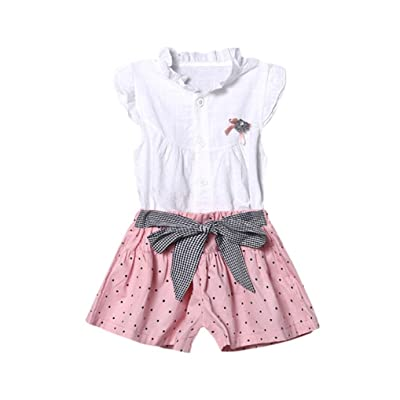 G Real Infant Toddler Baby Girls Cute Ruffles Button Blouse White