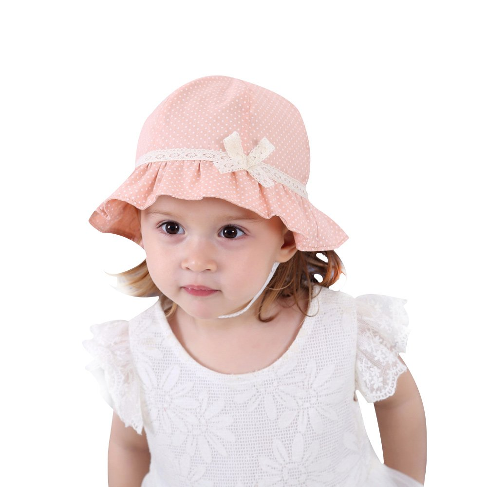 XIAOHAWANG Baby Girls Hat Kids Sun Protection Caps Toddlers Spring Hats with Lace