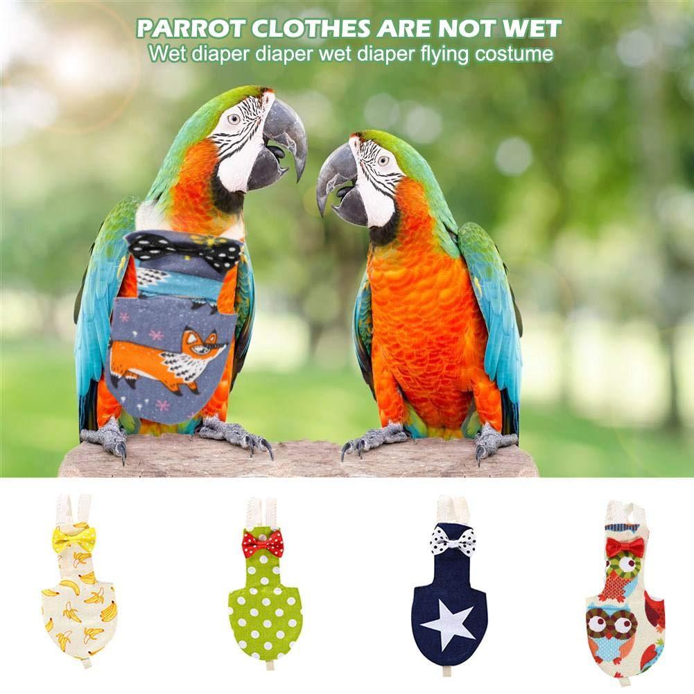 youngfate Pannolini per pappagalli Il Volo degli Uccelli /è Adatto al Pannolino Costume da Parrocchetto Regolabile per Green Cheek Parakeet Cockatiels Piccioni e Altri Uccelli