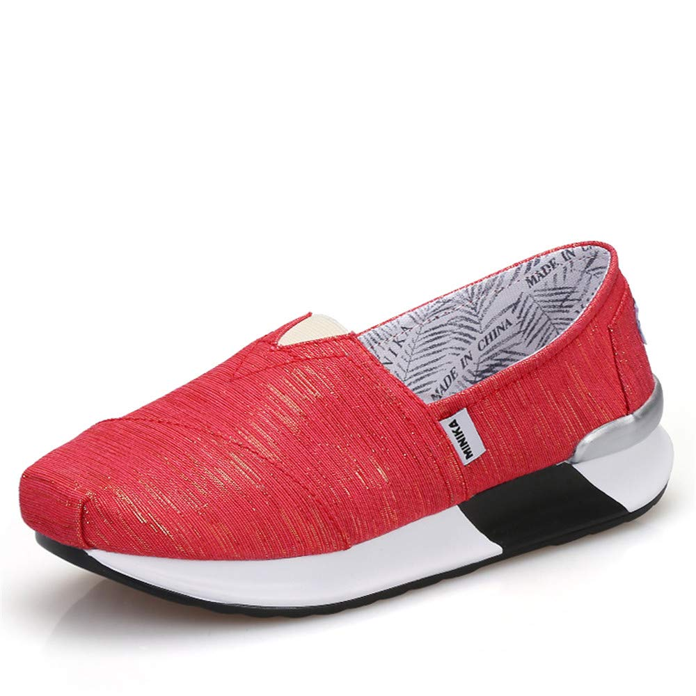 FangYOU1314 Pente de : Toile avec FangYOU1314 B078W2389R des Chaussures de secousse Sleeve Wild Sports Running Shoes (Couleur : Rouge, Taille : 38 EU) Rouge 49fdc44 - deadsea.space