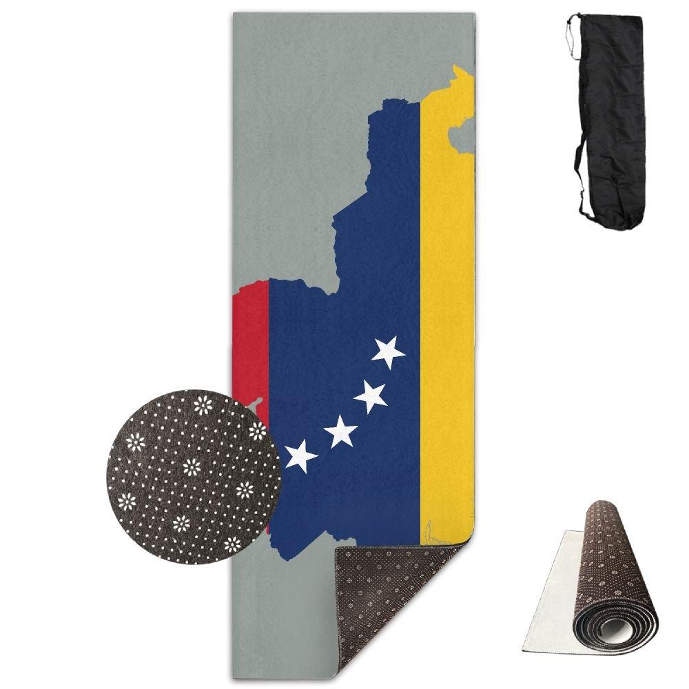 Amazon.com: Flag Map Of Venezuela Printing Yoga Mat Towel ...
