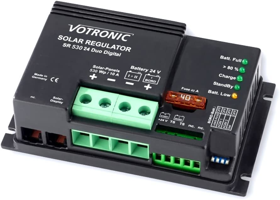 votronic SR Duo Thermostat num/érique R/égulateur de charge pour 2/ circuits Batterie Duo Dual R/égulateur de charge PWM