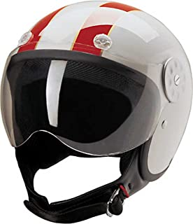 Amazon.com: HCI Rojo Checkerboard Open Face casco de ...