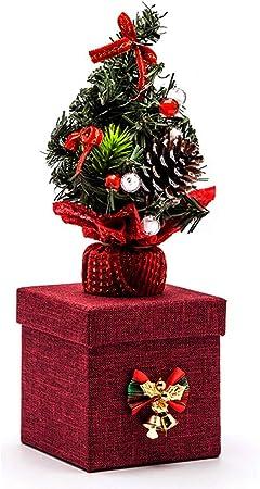 XIADE Caja Árbol de Navidad Brillante Caja de Dulces Nochebuena Caja de Manzanas Regalo de Fiesta Decoración navideña,Rojo: Amazon.es: Hogar