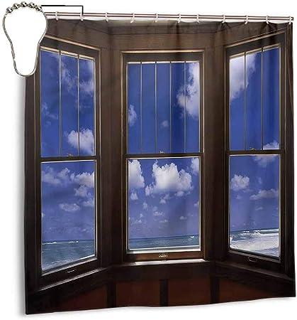 Gloria Johnson - Cortina de Ducha para Playa o baño, diseño con Texto en inglés: Amazon.es: Hogar