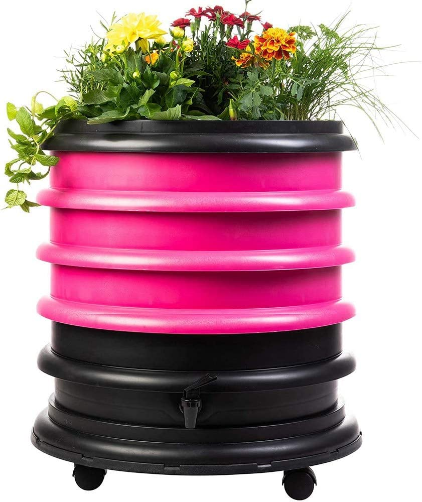 Lombricomposteur 3 Plateaux I 1kg de vers de Compost I Kit Complet I Grande capacit/é 96 litres Worm Caf/é