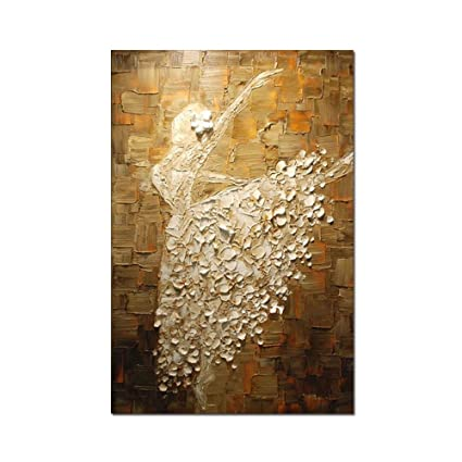 Amazon.com: V-inspire Ballet Girls Dancer Paintings, 32x48 Inch Hand ...
