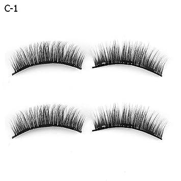 30975daca72 Amazon.com : Aiweikang SKONHED 4 Pcs Thick Glue-free Triple Magnets Extension  Tools False Eyelashes Magnetic Lashes Full Coverage : Beauty