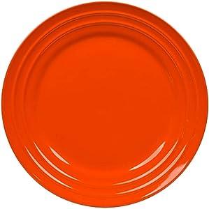 Rachael Ray (Tangerine) Orange Double Ridge Dinner Plate 11'' (Set of 4)