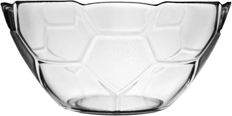 12 tlg Glasschale Dessertschale Snackschale im Fu/ßball look aus Glas Schale S/ü/ßigkeiten Sch/üssel 17cm