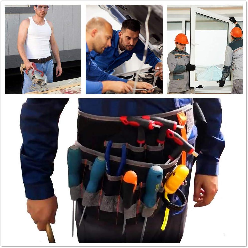 Copechilla sac /à outils grande taille 43x25x24CM avec ceinture ajustable,toile oxford /épaisse imperm/éable avec maille respirante techniciens,famille 19 poches pour /électriciens