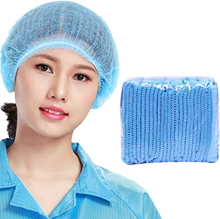 Disposable Head Cover Mesh Mop Hair Nets Caps Anti Dust Non Woven Catering Use