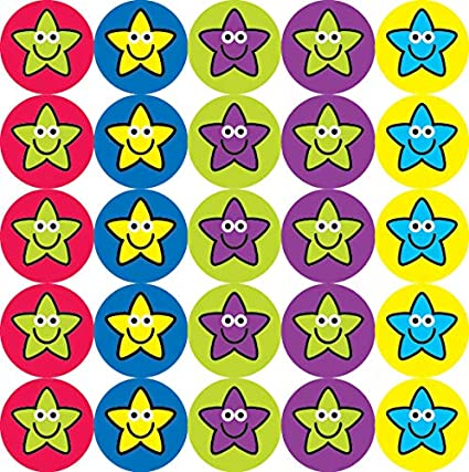 10mm Mixed Caption Mini Captioned Reward Stickers 5 sheets 825 stickers