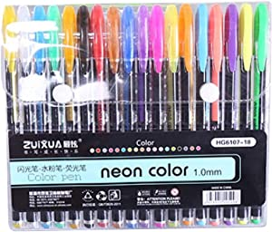 Fine Glitter Gel Pen Set,Coloring Art Marker Books Crafting Doodling Drawing,Highlighters Assorted Colors Non-Toxic Highlighter Markers (C)