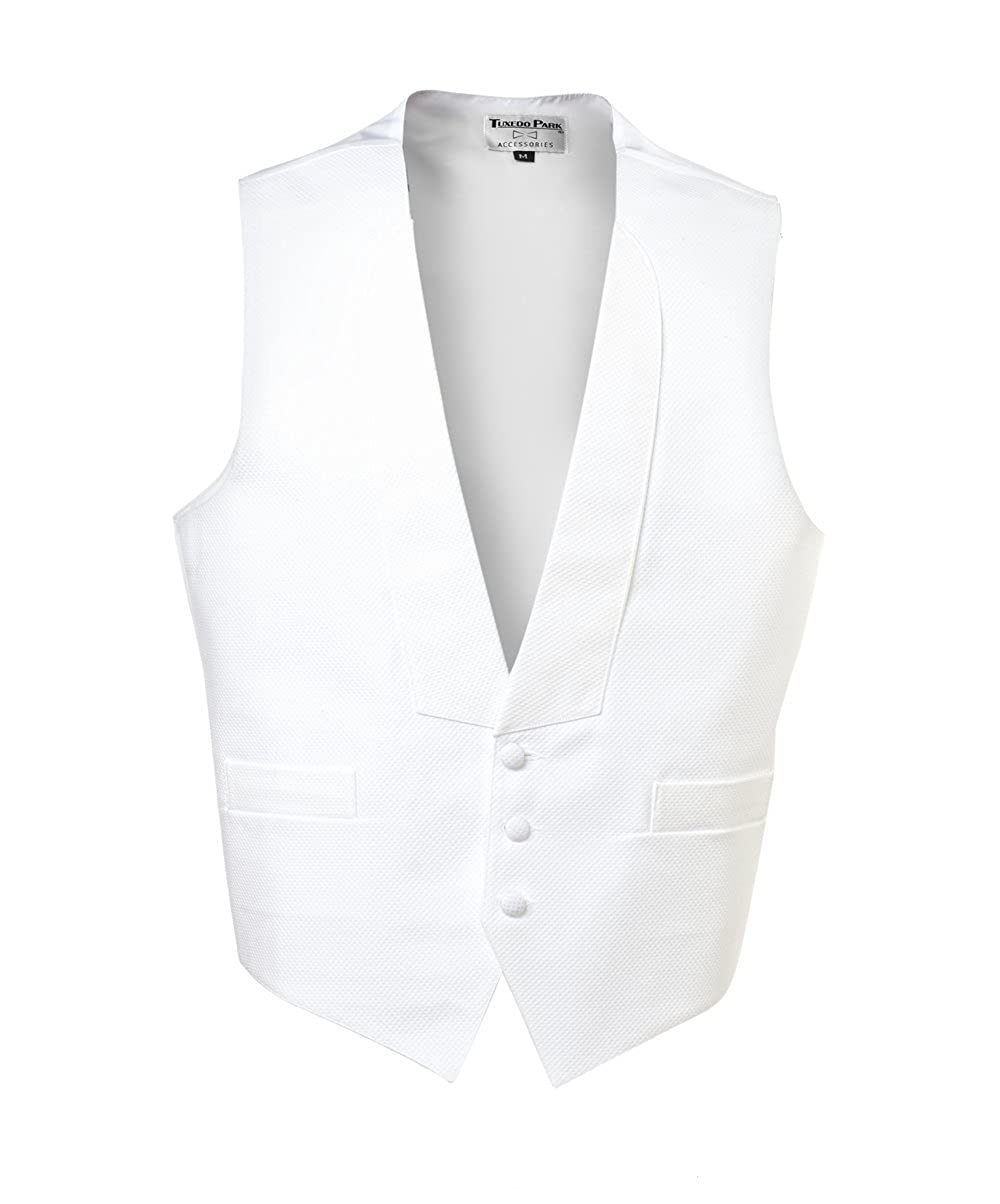 1920s Style Mens Vests UniformTux Mens 3 Button Full Back Vest $48.00 AT vintagedancer.com