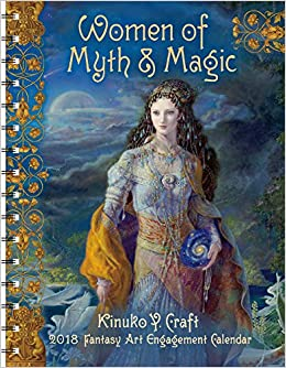 women of myth magic 2018 fantasy art engagement datebook calendar