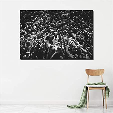 Lebron James Black And White Poster Canvas Prints Unframed Painting For Living Room Decor Print On Canvas 50x75cm No Frame Amazon Co Uk Kitchen Home