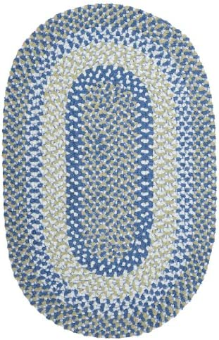 Colonial Mills Blokburst Polypropylene Braided Sample Swatch Rug, Blueberry Pie