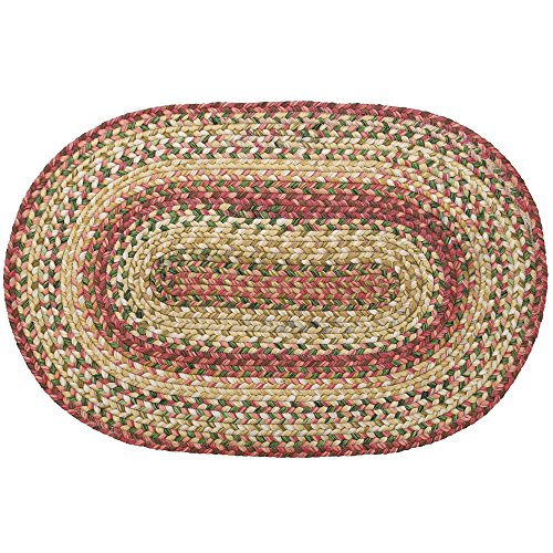 Homespice Oval Outdoor Braided Rugs, 20-Inch by 30-Inch, - Olive Homespice Decor