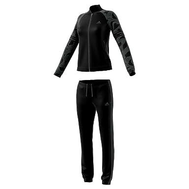 22257051a18 adidas Women's WTS PES Cosy Track Suit, Top:Black Black Bottom:Black/