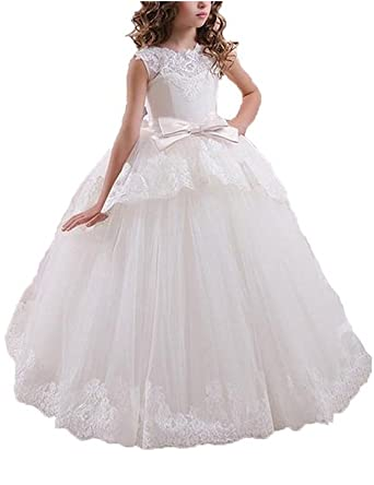 ca3c7d8150 Amazon.com  Helen Lace Flower Girls Gown First Communion Dress 072 ...