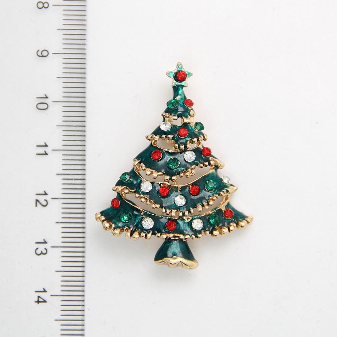481e24d8c18 Amazon.com: Botrong Rhinestone Christmas Tree Brooch Pin Xmas Gift: Arts,  Crafts & Sewing